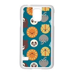 Animal Pattern Samsung Galaxy S5 Case (White)