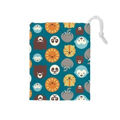 Animal Pattern Drawstring Pouches (Medium)