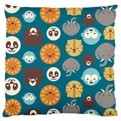 Animal Pattern Large Flano Cushion Case (One Side)