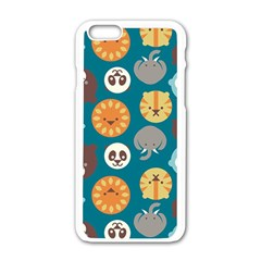 Animal Pattern Apple iPhone 6/6S White Enamel Case
