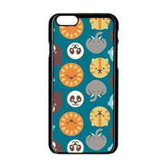 Animal Pattern Apple iPhone 6/6S Black Enamel Case