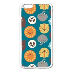 Animal Pattern Apple iPhone 6 Plus/6S Plus Enamel White Case