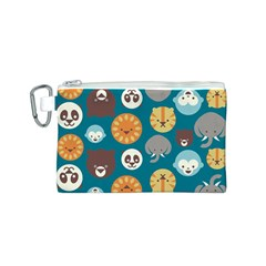 Animal Pattern Canvas Cosmetic Bag (S)