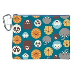 Animal Pattern Canvas Cosmetic Bag (XXL)