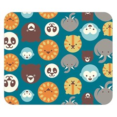 Animal Pattern Double Sided Flano Blanket (Small)