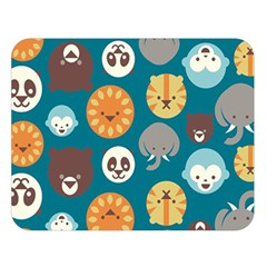 Animal Pattern Double Sided Flano Blanket (Large)