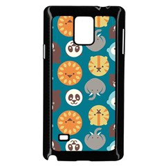 Animal Pattern Samsung Galaxy Note 4 Case (Black)