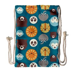 Animal Pattern Drawstring Bag (Large)