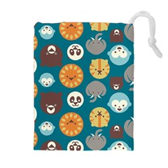 Animal Pattern Drawstring Pouches (Extra Large)