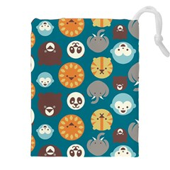 Animal Pattern Drawstring Pouches (XXL)
