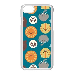 Animal Pattern Apple iPhone 7 Seamless Case (White)