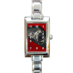 Auto Red Fast Sport Rectangle Italian Charm Watch