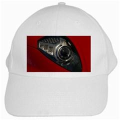 Auto Red Fast Sport White Cap
