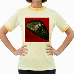 Auto Red Fast Sport Women s Fitted Ringer T-Shirts