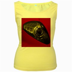 Auto Red Fast Sport Women s Yellow Tank Top