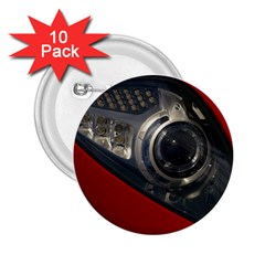 Auto Red Fast Sport 2.25  Buttons (10 pack)