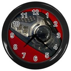 Auto Red Fast Sport Wall Clocks (Black)