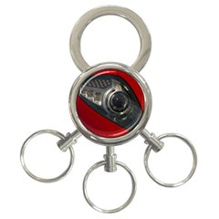 Auto Red Fast Sport 3-Ring Key Chains