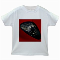 Auto Red Fast Sport Kids White T-Shirts