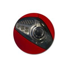 Auto Red Fast Sport Magnet 3  (Round)