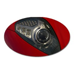Auto Red Fast Sport Oval Magnet