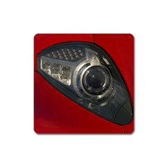 Auto Red Fast Sport Square Magnet