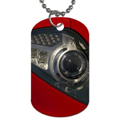 Auto Red Fast Sport Dog Tag (One Side)