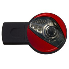 Auto Red Fast Sport USB Flash Drive Round (1 GB)