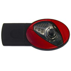 Auto Red Fast Sport USB Flash Drive Oval (2 GB)