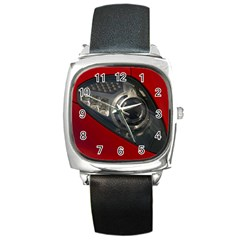 Auto Red Fast Sport Square Metal Watch