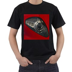 Auto Red Fast Sport Men s T-Shirt (Black) (Two Sided)