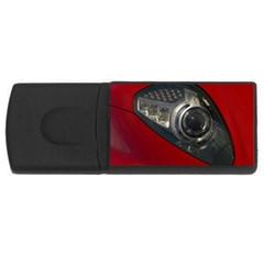 Auto Red Fast Sport USB Flash Drive Rectangular (4 GB)