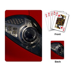Auto Red Fast Sport Playing Card