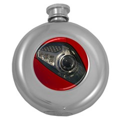 Auto Red Fast Sport Round Hip Flask (5 oz)