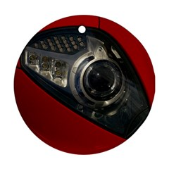 Auto Red Fast Sport Round Ornament (Two Sides)