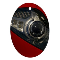Auto Red Fast Sport Oval Ornament (Two Sides)