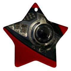 Auto Red Fast Sport Star Ornament (Two Sides)