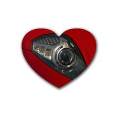 Auto Red Fast Sport Rubber Coaster (Heart)