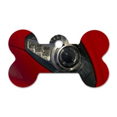 Auto Red Fast Sport Dog Tag Bone (One Side)