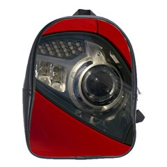 Auto Red Fast Sport School Bags(Large)