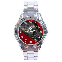 Auto Red Fast Sport Stainless Steel Analogue Watch