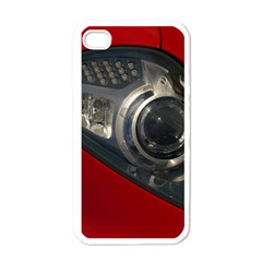 Auto Red Fast Sport Apple iPhone 4 Case (White)