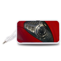 Auto Red Fast Sport Portable Speaker (White)