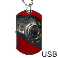 Auto Red Fast Sport Dog Tag USB Flash (One Side)