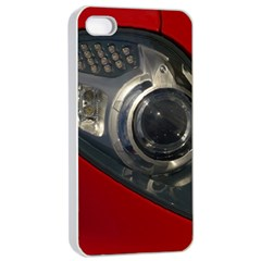 Auto Red Fast Sport Apple iPhone 4/4s Seamless Case (White)