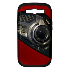 Auto Red Fast Sport Samsung Galaxy S III Hardshell Case (PC+Silicone)