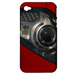 Auto Red Fast Sport Apple iPhone 4/4S Hardshell Case (PC+Silicone)