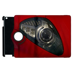 Auto Red Fast Sport Apple iPad 2 Flip 360 Case