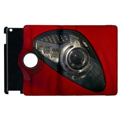 Auto Red Fast Sport Apple iPad 3/4 Flip 360 Case