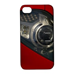 Auto Red Fast Sport Apple iPhone 4/4S Hardshell Case with Stand